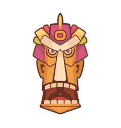 tiki mask icon vector image