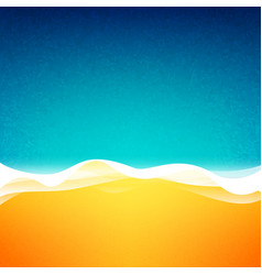 top view of the coast vector image