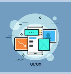 uiux thin line concept vector image