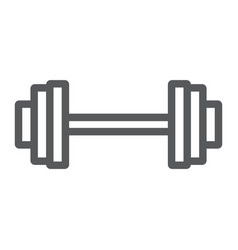 weightlifting line icon gym and sport barbell vector image