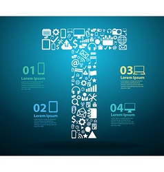 Application icons alphabet letters T design vector image vector image