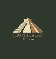 banner with mesoamerican pyramids in mexico vector image vector image