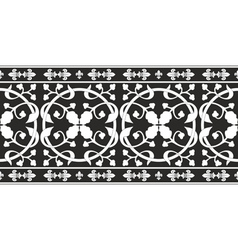black-and-white gothic floral pattern vector image vector image