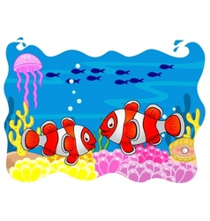 Clown fish cartoon vector image vector image
