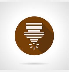 cnc plasma cutting brown round icon vector image