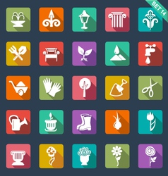 Gardening icons- flat design vector image vector image
