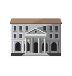 gray bank building exterior vector image