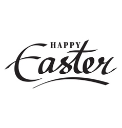happy easter hand lettering hand calligraphy vector image