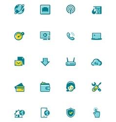 Internet service provider icon set vector