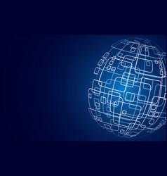 modern techology concept background global vector image