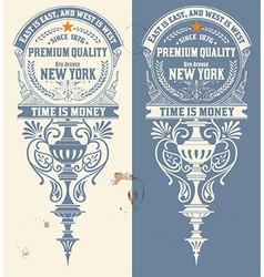Premium Quality banner Baroque ornaments vector image vector image