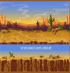 seamless desert landscape game cartoon vector image vector image