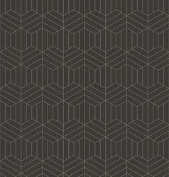 Abstract geometric line hexagon seamless pattern vector