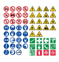 all safety signs vector image vector image
