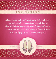 Cinderella princess invitation template vector image
