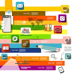 Flat Design Infographic Layout vector image