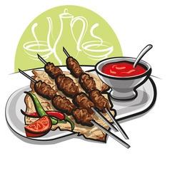 kebab vector image vector image