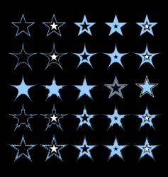 stars design elements vector image vector image