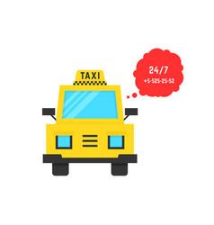 Taxi service with speech bubble vector