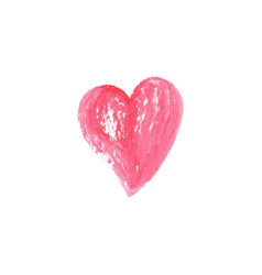 watercolor heart on white background vector image