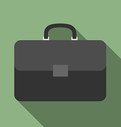 Briefcase with long shadow vector image vector image