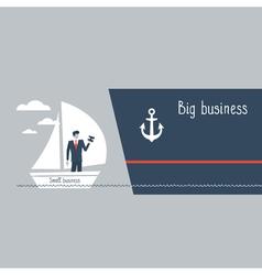 Business size comparison or enlargement vector image