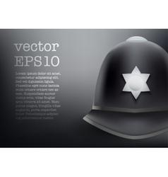 helmet of British police background vector image vector image