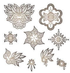 indian elements for design vector image