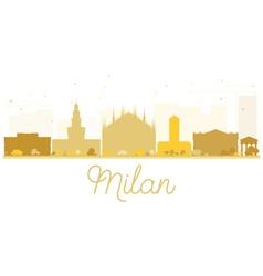 Milan City skyline golden silhouette vector image vector image