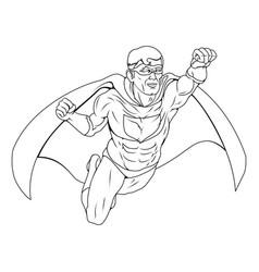 monochrome superhero vector image