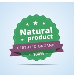 Natural product badge vector image
