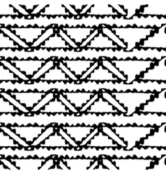 Seamless hand drawn pattern with black stripes vector image vector image