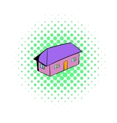 Small cottage icon comics style vector image vector image