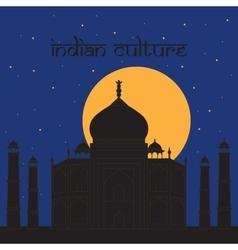 Taj Mahal Temple Landmark in Agra India Indian vector image