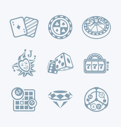 casino games icons - tech series vector image