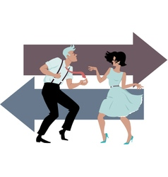 Dancing the Twist vector image vector image