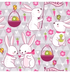 Easter concept seamless pattern in vector image vector image