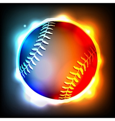 Glowing Baseball vector image