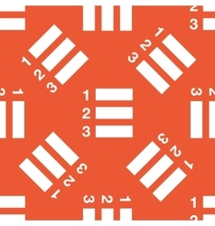 Orange numbered list pattern vector