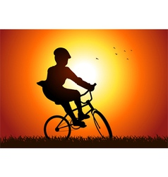 Riding A Bicycle vector image