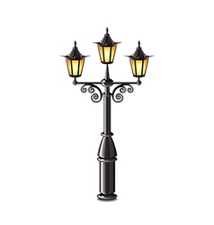 street lantern isolated vector image