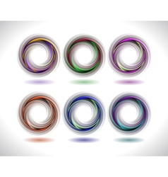 Abstract colorful swirl collection vector image