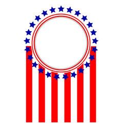 american flag symbols sign logo emblem frame vector image