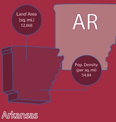 Arkansas 3D info graphic vector