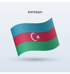 Azerbaijan flag waving form vector image
