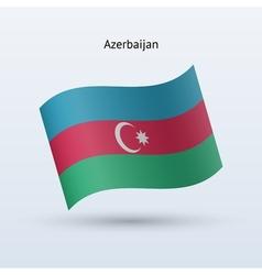 Azerbaijan waving form vector