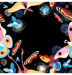 background multicolored butterflies vector image