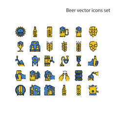 Basic element beer icons setcontains vector