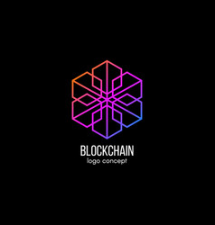 blockchain logo concept modern technology design vector image