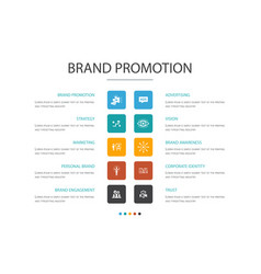 Brand promotion infographic 10 option concept vector